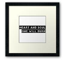 Joy Division Post Punk Music Punk Rock Ian Curtis Lyrics  Framed Print