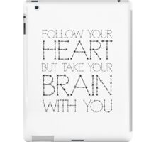 Heart Life Motivational Funny Joke Humour Fashion  iPad Case/Skin