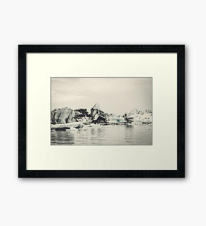 Icebergs Framed Print