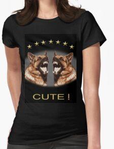 Cute Alsatian Womens Fitted T-Shirt