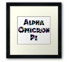 ΑΟΠ- 90s pattern Framed Print