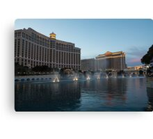Early Evening Water Dance - Bellagio, Las Vegas Canvas Print