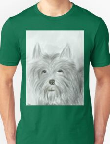 Cute Terrier Sketched Drawing T-Shirt