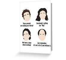 Seinfeld Comedy Fan Art Unofficial Jerry Larry David Funny Kramer Greeting Card