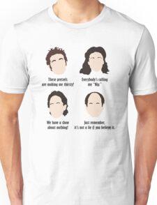 Seinfeld Comedy Fan Art Unofficial Jerry Larry David Funny Kramer Unisex T-Shirt