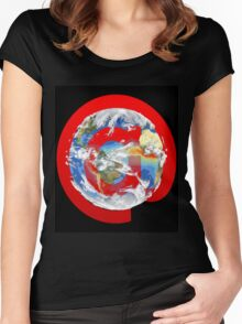 @ Earth Women's Fitted Scoop T-Shirt