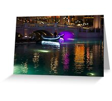 It's Not Venice - Bright Lights, Glamorous Gondolas and the Magic of Las Vegas at Night Greeting Card