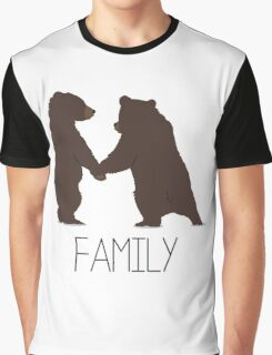 Bears Family Illustration Art Wild Nature Graphic T-Shirt