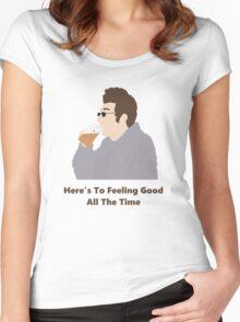 Seinfeld Kramer Feel Good Comedy Fan Art Unofficial Jerry Larry David Funny Women's Fitted Scoop T-Shirt