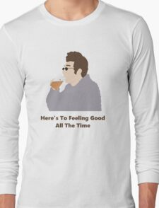 Seinfeld Kramer Feel Good Comedy Fan Art Unofficial Jerry Larry David Funny Long Sleeve T-Shirt