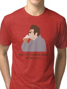 Seinfeld Kramer Feel Good Comedy Fan Art Unofficial Jerry Larry David Funny Tri-blend T-Shirt