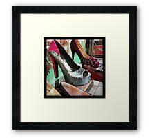Silver Heels Framed Print