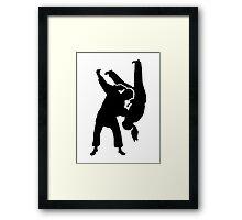 Judo woman girl Framed Print