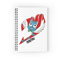 Red Fairy Tail (Happy Session) Spiral Notebook