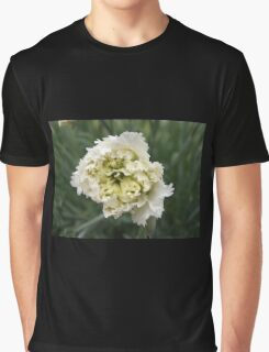 INTRICATE LAYERS OF A SINGLE WHITE CHRYSANTHEMUM  Graphic T-Shirt