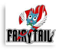 Black Fairy Tail and Red Happy Logo Canvas Print