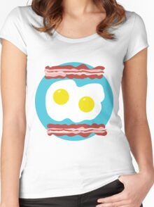 Bacon and Eggs Women's Fitted Scoop T-Shirt