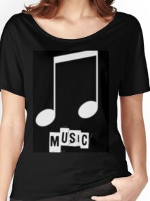 Black Music T-Shirts Women's Relaxed Fit T-Shirt