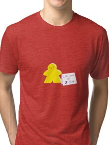 Meeple Worker Yellow Tri-blend T-Shirt