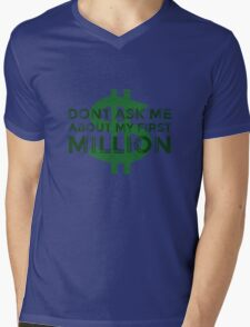 Money Humour Joke Funny Million Rich Cool Cheesy Mens V-Neck T-Shirt