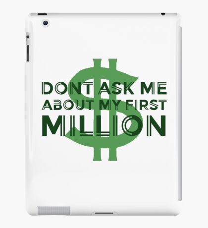 Money Humour Joke Funny Million Rich Cool Cheesy iPad Case/Skin