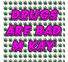 South Park Drugs are bad Funny TV Cartman Comedy Weed Pattern Photographic Print