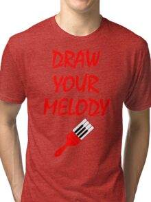 Melody brush Tri-blend T-Shirt
