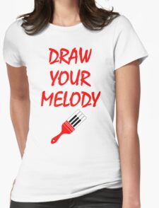 Melody brush Womens Fitted T-Shirt