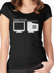 Dead Format - CRT Monitor Women's Fitted Scoop T-Shirt