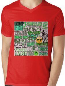 Timber Lake Words Collage Mens V-Neck T-Shirt