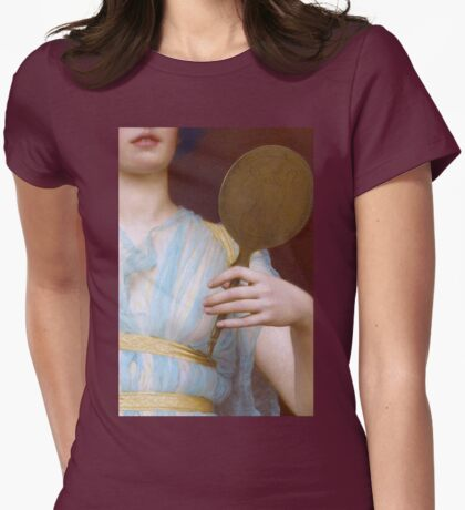 Historic Grecian fashion, Greek woman antique painting detail Womens Fitted T-Shirt