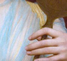 Historic Grecian fashion, Greek woman antique painting detail Sticker