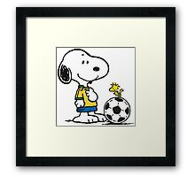 Snoopy Football Framed Print