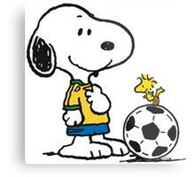 Snoopy Football Metal Print