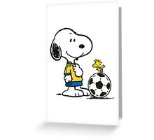 Snoopy Football Greeting Card