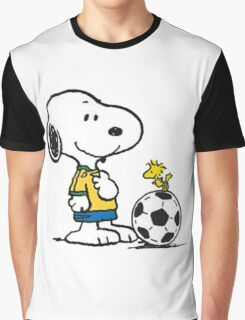 Snoopy Football Graphic T-Shirt