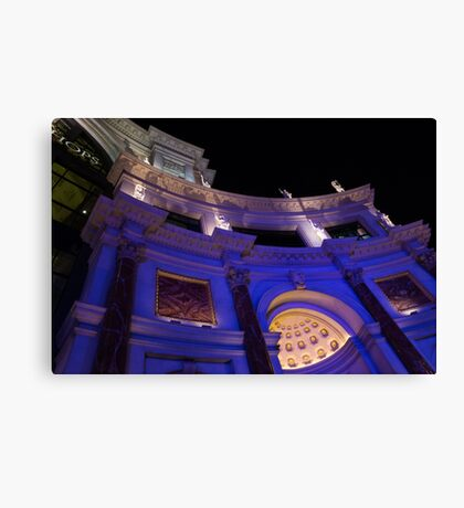 The Forum Shops Glamorous Entrance at Night Canvas Print