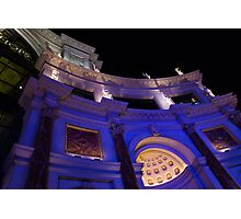 The Forum Shops Glamorous Entrance at Night Photographic Print