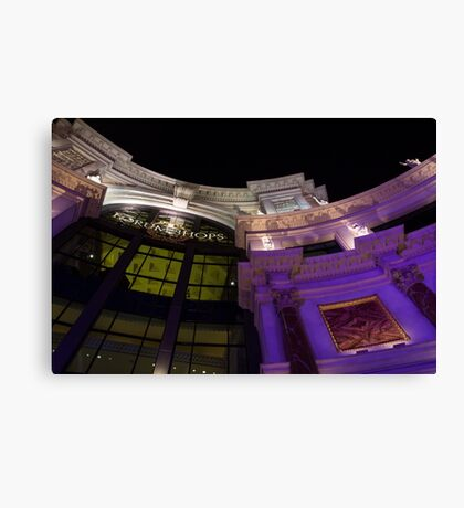 Another View of the Forum Shops Glamorous Entrance at Night Canvas Print