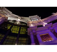 Another View of the Forum Shops Glamorous Entrance at Night Photographic Print