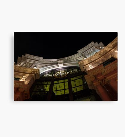 The Forum Shops at Night Canvas Print