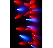 The Colors of Music in Red and Blue Photographic Print
