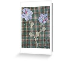 checkered flowers Greeting Card