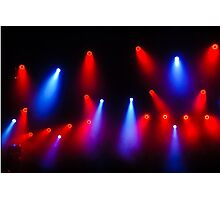 Music in Red and Blue - Montreal Jazz Festival Photographic Print