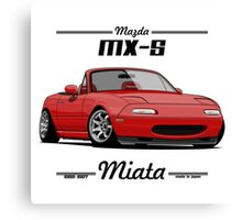 Mazda MX-5 Miata (red) Canvas Print
