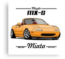 Mazda MX-5 Miata (yellow) Canvas Print