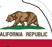 California flag cat Sticker
