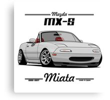 Mazda MX-5 Miata (white) Canvas Print
