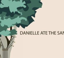 Danielle Ate The Sandwich Slowdown Concert Poster Sticker
