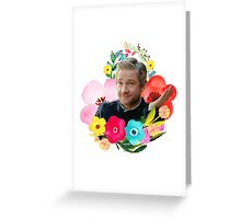Floral Martin Freeman Greeting Card